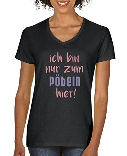 Comedy Shirts Kurzarm Top Basic Print-Shirt 100/% Baumwolle Rundhals Herren T-Shirt Copacabana Strandabschnitt 1312