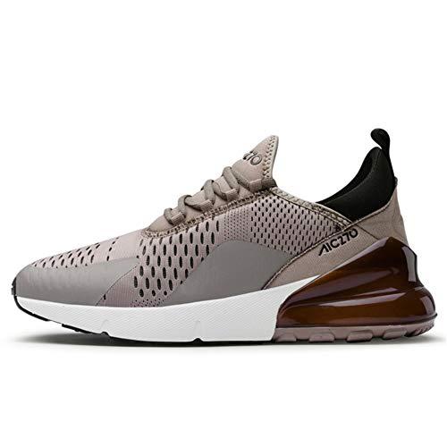 TORISKY Sportschuhe Herren Damen Laufschuhe Air Cushion Luftkissen Sneakers Turnschuhe Fitness Gym Leichtes Bequem Schuhe(270-1-Khaki41)