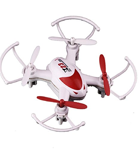 Preisvergleich Produktbild Tongshi SY X 23 Mini Quadcopter, RC 6Axis Gyro LED Licht 4ch kopflose Nano Drohne (rot)