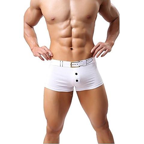 So Aromatherapy - Caleçon - Homme Large - Blanc - Medium