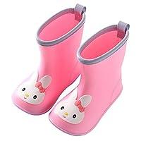GD-Mart Baby Cartoon Rubber Rain Boots Kids Waterproof Wellington Wellies for Infant Toddler