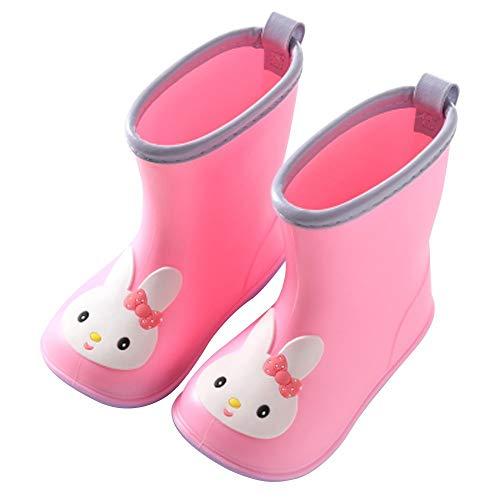 DMMW Baby Cartoon Rubber Rain Boots Kids Waterproof Wellington Wellies for Infant Toddler