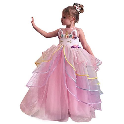 rn-Kleid Applique-Partei Halloween-Fantasie-Kostüm Größe (110) 3-4 Jahre Rosa ()