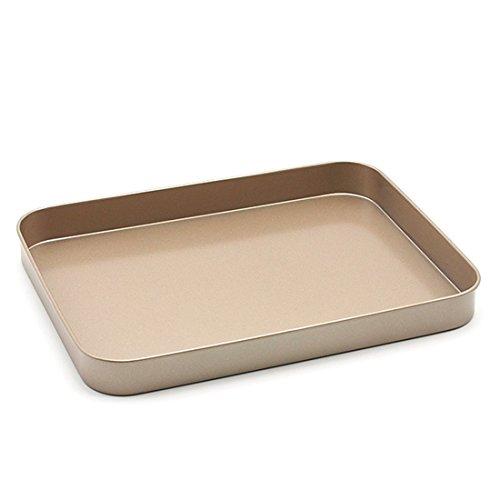 Backblech, Hipsteen 10inch Rectangle Bäckerei Kohlenstoffstahl Antihaft Geschirr Baking Pan Backblech Ofenblech Drip Pfannen Backbleche Plätzchen Pizza Tray Cake Pan Pflaumenkuchen - Golden
