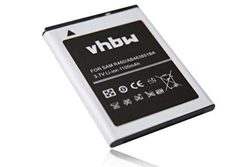 vhbw Akku 1100mAh für Smartphone Telefon Handy Samsung Character SCR-R640, Chat 335 GT-S3350, Comment SCH-R380, Corby 2 II GT-S3850.