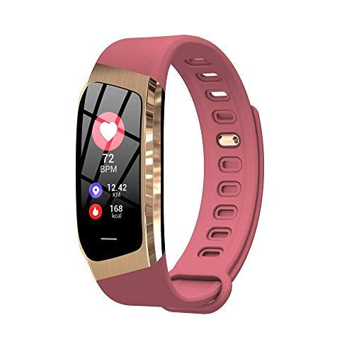 Fitness Tracker IP68 wasserdicht Smart Watch Armband Activity Tracking Armband Herzfrequenz Schlaf Monitor Schrittzähler Kalorien Schrittzähler iOS Android Männer Frauen Kinder Outdoor Sport (Pink)