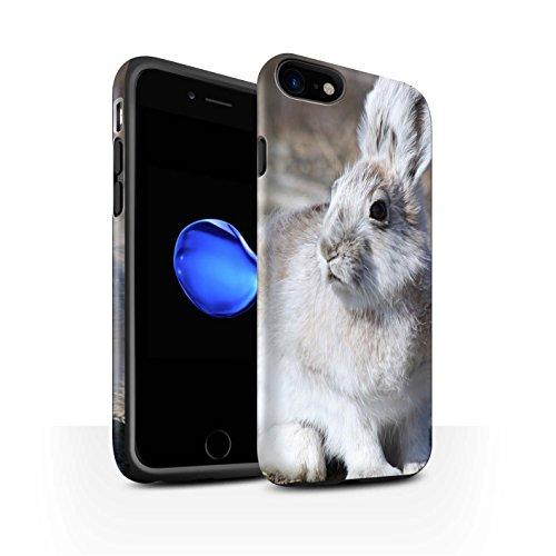 stuff4-matte-antiurto-custodia-cover-caso-cassa-del-telefono-per-apple-iphone-7-bianca-artico-lepre-