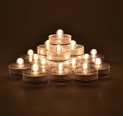Gearmax® Luz 36PCS LED sumergible impermeable del partido de la boda Flame Candle Lights