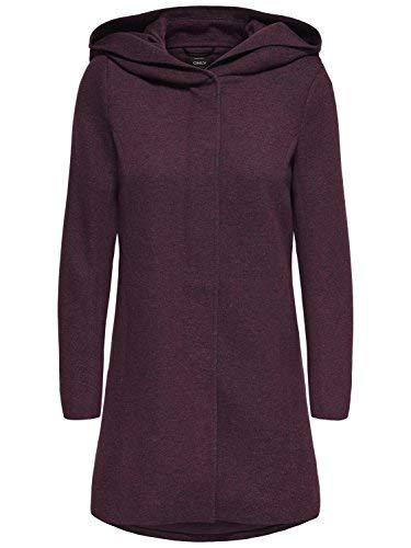 ONLY Damen Mantel Jacke onlSEDONA Light Coat Parka Übergang Herbst (S, Weinrot (Chocolate Truffle))