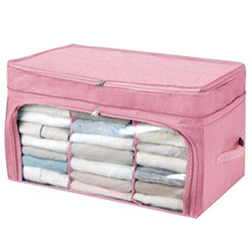 Dexinx Kleidertaschen Set Transluzent Wasserdicht Kleidertaschen Verpackungswürfel Tragbar Sauber Gepäck Kompressionstaschen Tasche Pink 60*37*34CM