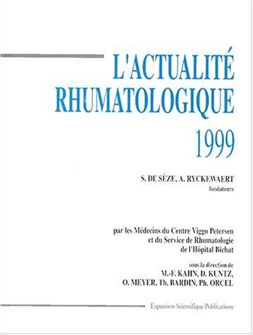 L'ACTUALITE RHUMATOLOGIQUE 1999
