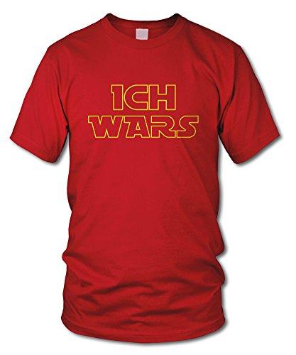 shirtloge - ICH WARS - Kult - Fun T-Shirt - in verschiedenen Farben - Größe S - XXL Rot