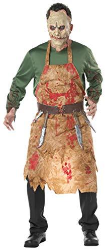 FENGT Halloween Cosplay Kostüm Blutige Metzger Pack Koch's Wear Herren Blood Pack Zombie Wear Kostüm Kostüm