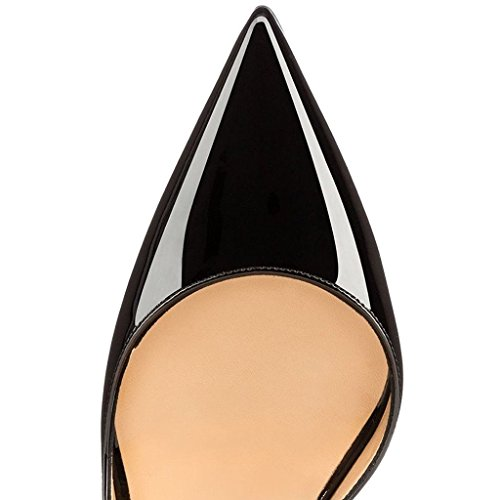EDEFS - Escarpins Femmes - Chaussures Stilettos - Talon Aiguille - Grande Taille - Soiree Mariage - Taille 35-45 Noir