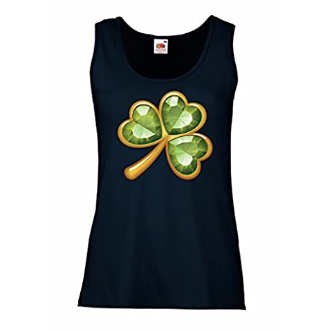 Sleeveless t shirts for women Irish shamrock St Patricks day