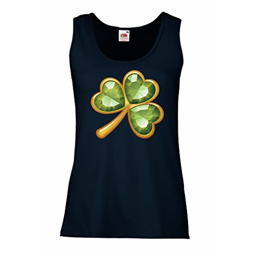 Damen Tank-Top Irish shamrock St Patricks day clothing (Small Blau Mehrfarben)