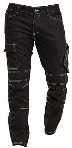 Qaswa Herren Motorradhose Jeans Motorrad Hose Motorradrüstung Schutzauskleidung Motorcycle Biker Trousers