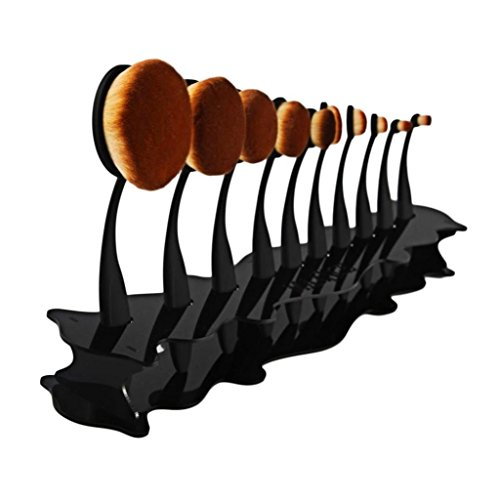 Koly 10 Treillis Présentoir Support Organisateur en Acrylique Rangement Cosmetic Organiser Make up Pinceaux Maquillage Professionnel pas cher Shelf (33.5*5.6*0.4cm, 02)