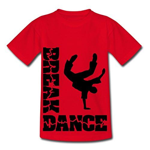Breakdance - Y T-shirt Enfant de Spreadshirt®, 122/128 (7-8 ans), rouge