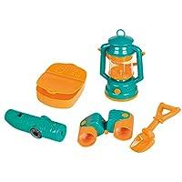 Quemu Co.,Ltd. Kids Pretend Mini Camp Set Camper Toy Oil-Lamp Telescope Camping Combination Educatioanal Game Kids Camp Set for Outdoor Beach Toys 5 Pieces (Blue)