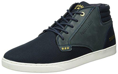 Pantofola d'OroPrato Canvas Mid Men - Scarpe da Ginnastica Basse Uomo , Blu (Blau (Dark Navy)), 43|#Men