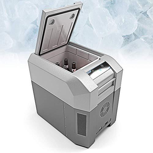 BLUEFIN Tragbare Kompressorkühlbox Mini Kühlschrank Gefrierschrank Elektrische Kühlbox Elektrokühlbox (24/33/42/60/80L) AC & DC Stecker | Essen, Getränke, Wein | Camping, Reise, Auto (33 Liter Silber)