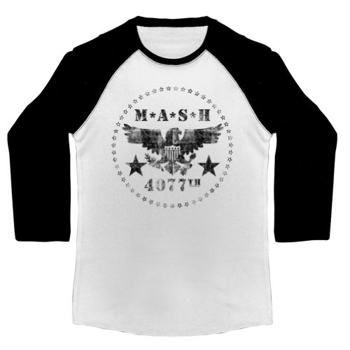 Mash - Männer 4077 Raglan White/Black