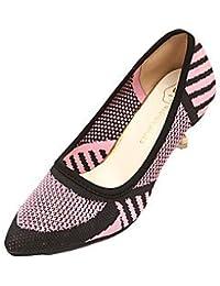 e0d37486c6c LvYuan ggx Women s Heels Fabric Spring Summer Fall Stiletto Heel Ruby Green Blushing  Pink 1in-