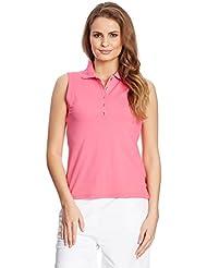 XFORE Camiseta polo de golf técnica para mujer, Napoli, color fucsia