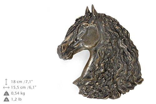 Fresian Horse, Pferd, Bronze, Statue an der Wand, hängen, Limitierte Edition, Art Dog