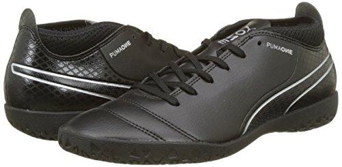 Puma Men   s One 17 4 It Footbal Shoes  Black  Black-Black-Silver   9 9 UK