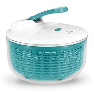 Navaris centrifuga per insalata con coperchio - centrifuga verdure scolainsalata scolaverdure con insalatiera scola insalata 26cm contenitore 5 litri