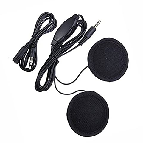 Gankarii® Stereo Motorcycle In-helmet Headphone Earphone 3.5mm plug Volume Control for MP3/MP4 Player, iPod, Phone, GPS, and Other 3.5mm-plug Music Players.