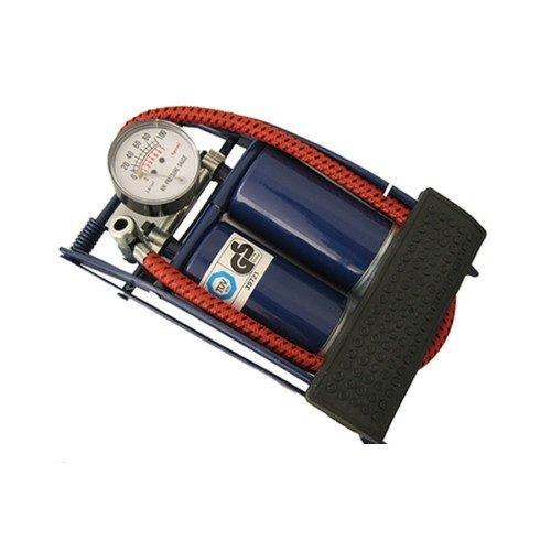 Roadster 5038673812052Pompe à pied double cylindre avec manomètre pour voitures/vélos/pneumatiques