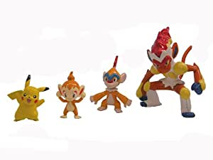 Pokemon Plamo Collection (Pokebla) Plastic Model Kit / Modellbausatz Figuren: Panferno Evolution Set & Pikachu (zum Zusammenstecken)