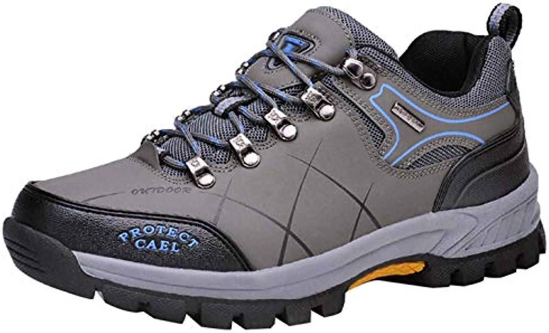 HhGold Bottes de Marche pour Chaussures Hommes - Chaussures pour de ran ée en Cuir - Baskets pour l'entraîneHommes t de Trekking... 2a3157