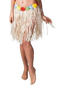 Boland 52400 - Hawaii falda, alrededor de 45 cm, un tamaño, color beige
