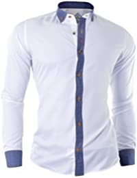 D&R Fashion Smart Man's Shirt with Argyle Pattern and Cufflinks