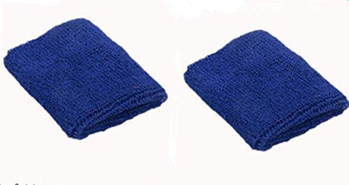 Dosige Sport Schweißband Handgelenk Handtuch Armschienen Tennis Badminton Gym Armband Wrist Wraps für Männer Frauen Damen Mädchen 2 Stück