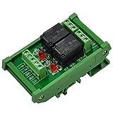 ELECTRONICS-SALON montaje en carril DIN 2 SPDT Relé de potencia del módulo de interfaz, OMRON 10 relé, 24 V bobina.