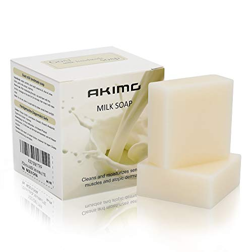 Jabones leche cabra 2 piezas - AKIMO 100% natural