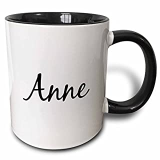 3dRose mug_193688_4 Anne word for Mom in Turkish Mother in different languages Turkey, Black Becher keine Angabe