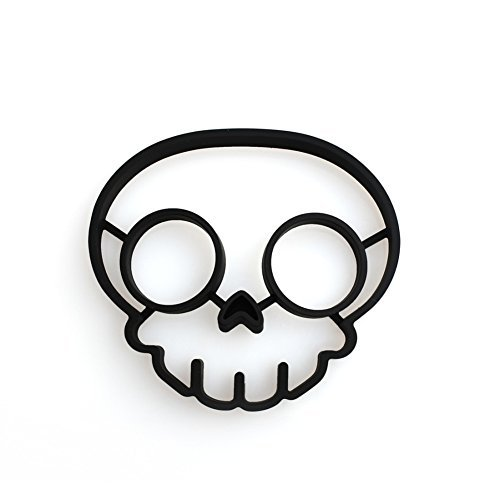 Houron Non-stick Silicone Skull Egg Fried Mould Mold Black by Houron