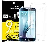Panzerglas Samsung Galaxy S6, [2 Stück] NEWC® Tempered Glass 9H Härte, Frei von Kratzern Fingabdrücken und Öl, HD Displayschutzfolie, 0.33mm Ultra-klar, panzerglas schutzfolie für Samsung Galaxy S6