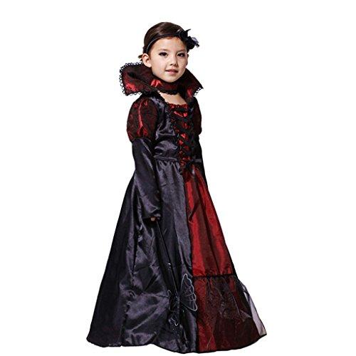 GWELL Kaiserin Kostüm für Kinder Halloween Weihnachten Party Cosplay Karneval (Lieferzeit 7-12 Tagen) Körpergröße 110-120cm
