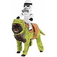 Costume halloween carnevale da Dewback Star Wars per cane vestito completo  con una pupazzo sulla schiena 190e1e117ac0