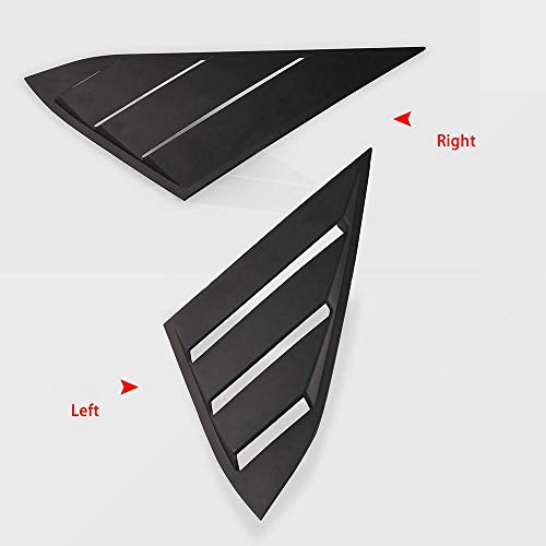 elegantstunning ABS Vitre arrière 89 Scoop Coque Vent Décoration pour Honda Civic berline
