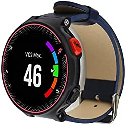 Garmin Replacement Watch Band, Fulltime(TM) Luxury Leather Watch band Wrist strap For Garmin Forerunner 235/630/230