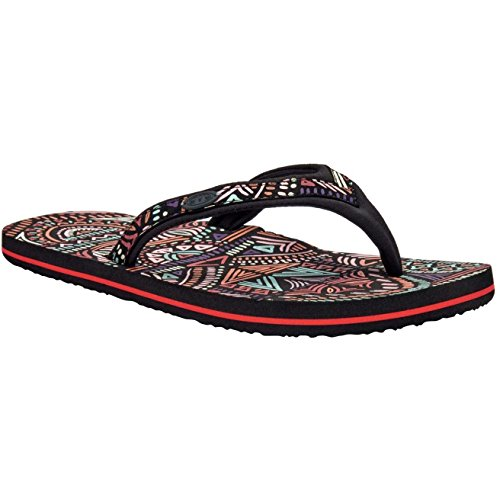 Animal Swish Slim Upper Aop, Sandales Plateforme Femme, Noir Multicolore