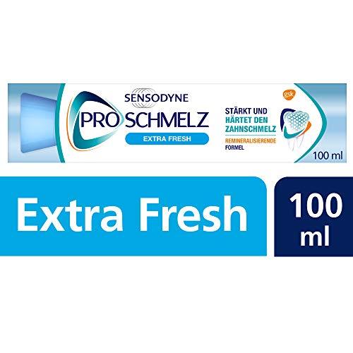 Sensodyne ProSchmelz Extra Fresh, tägliche Zahnpasta mit Fluorid, 1x100ML, bei säurebedingtem Zahnschmelzabbau + extra Frische